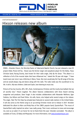 Brandon Hixson Picture of You Article