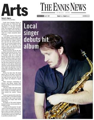 Brandon Hixson - Local Singer Debuts Hit Album