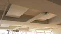 radiant heating, metal radiant ceiling, radiant ceiling, hot yoga, architectural series