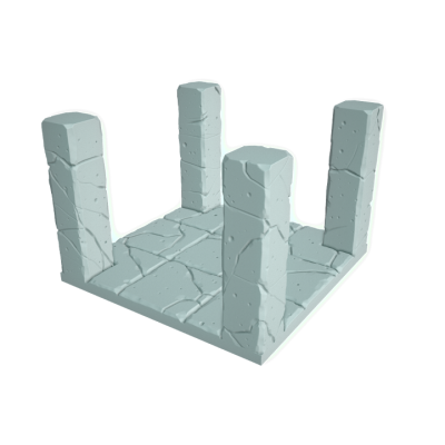 """Tilescape™ Modular Building System by Rocket Pig Games """"TILES WITH COLUMNS"""""""