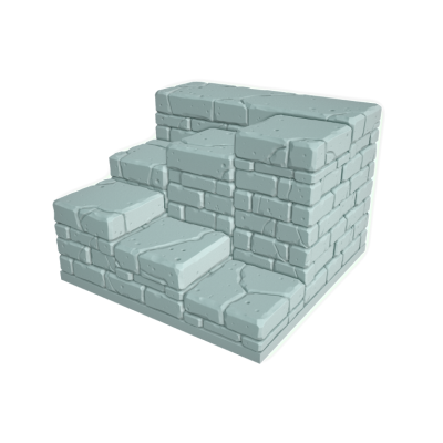 """Tilescape™ Modular Building System by Rocket Pig Games """"Staircase"""""""