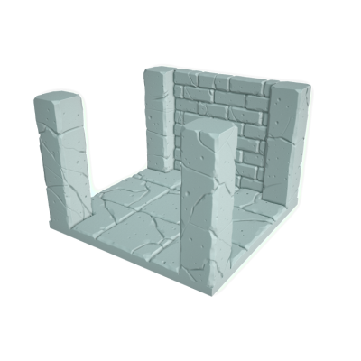 """Tilescape™ Modular Building System """"Tiles w/ Columns and Walls"""""""