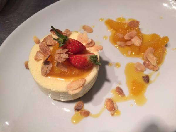 Orange and white chocolate mousse at On the Green
