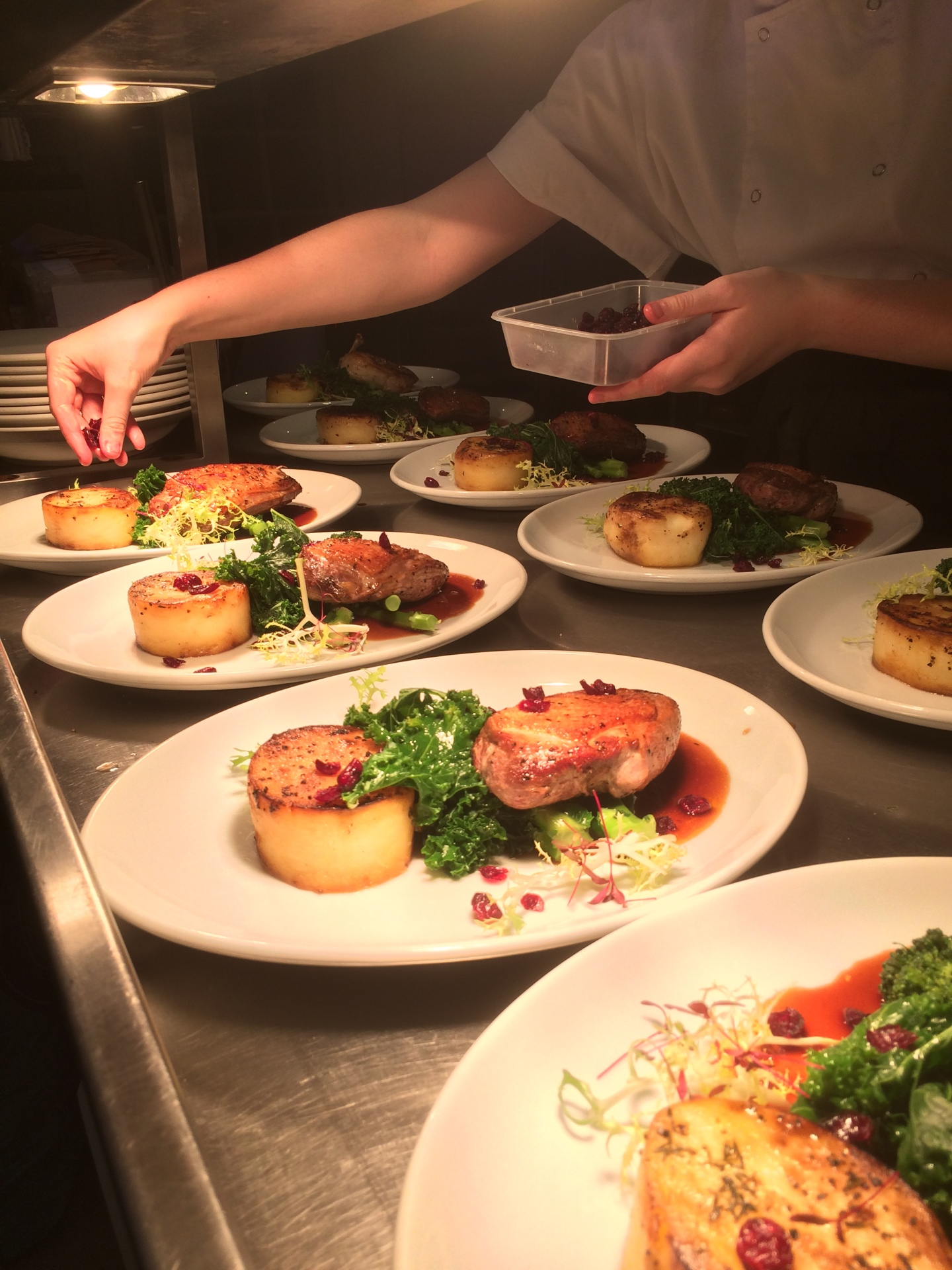 Plating up for service