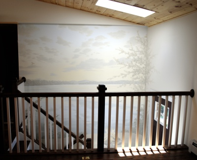 Front View of Stairway Mural