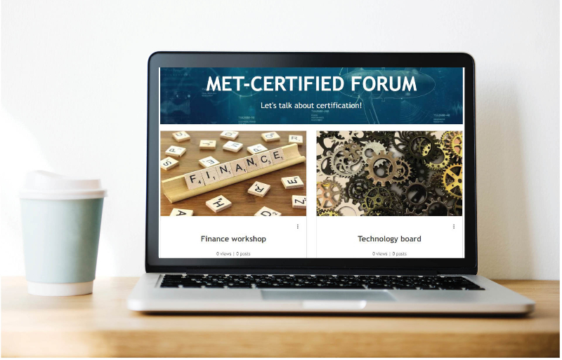 New MET-CERTIFIED forum to talk about certification. Join us!