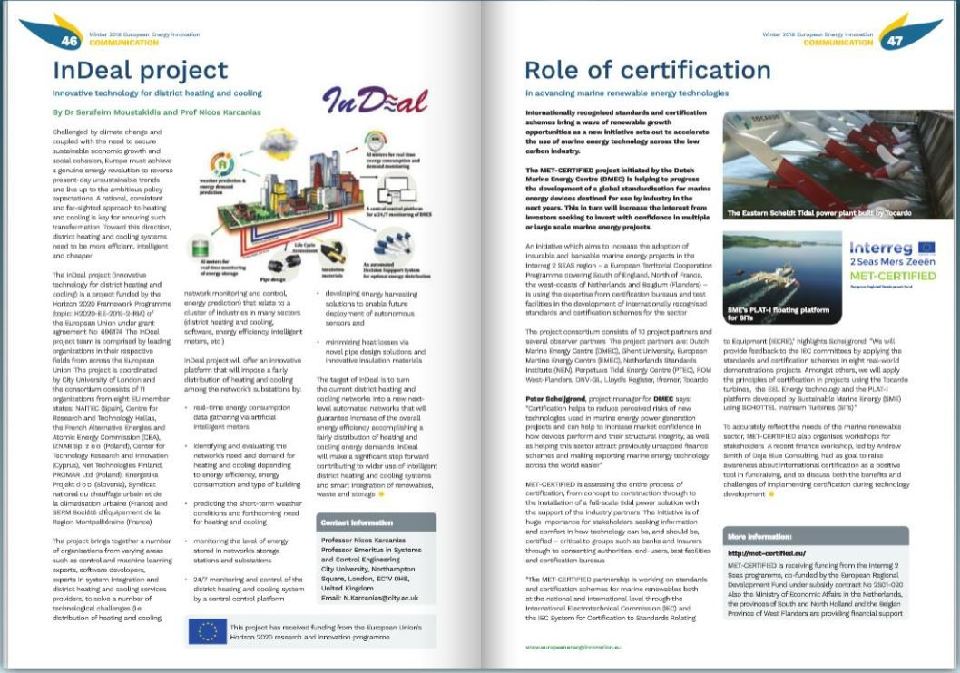 Read our article on the role of certification in European Energy Innovation magazine