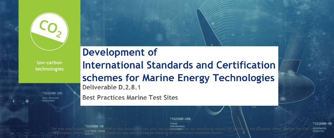 Study - Best Practices Marine Test Sites (POM)