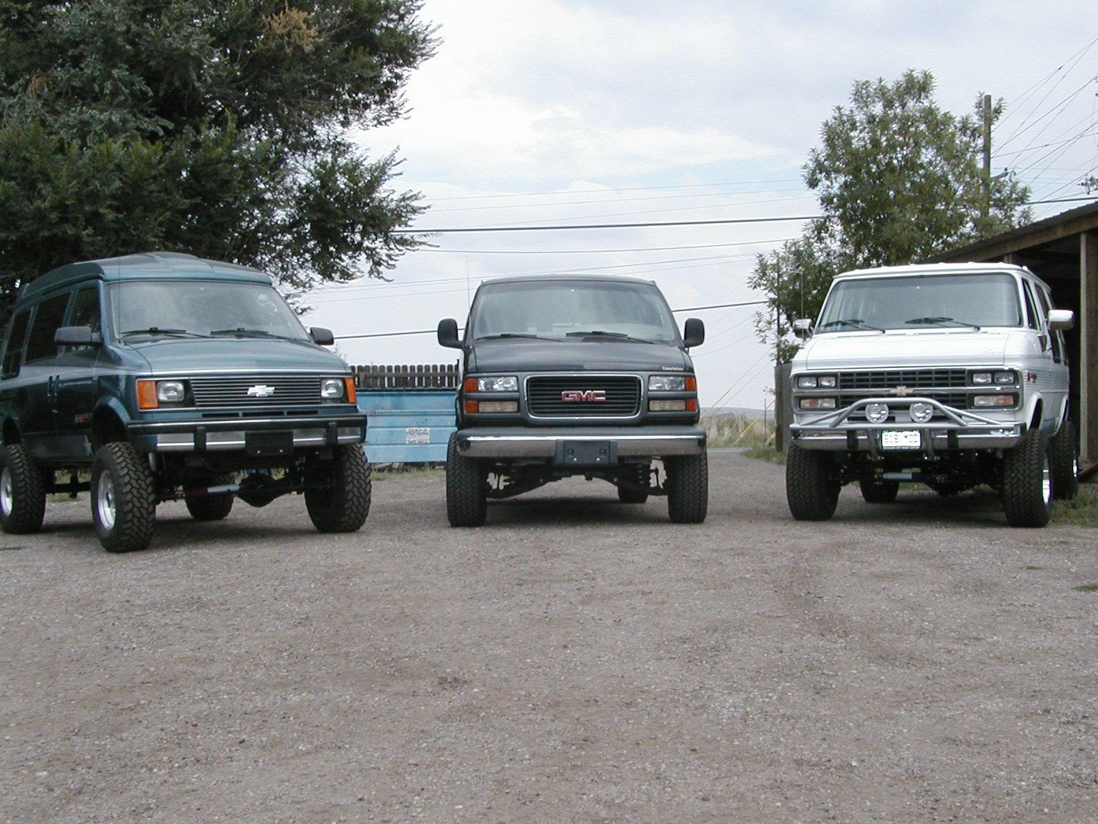 4x4 Chey and Gmc vans
