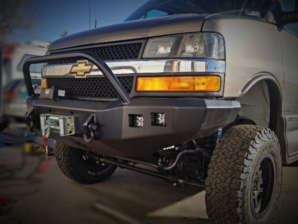 Chevy Express winch bumper