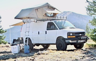 Lifted Chevy Express Van