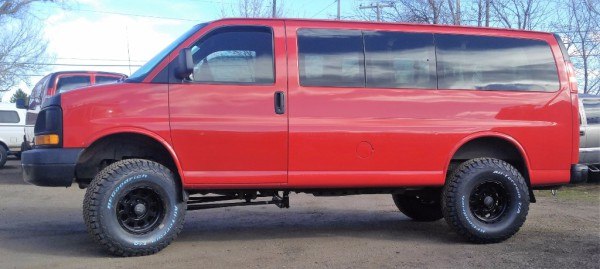 "Chevy Express all wheel drive 6"" lift kit"