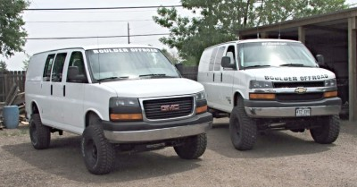 4x4 Chevy Express vans