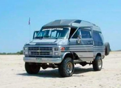 4x4 Chevy Van on the Beach