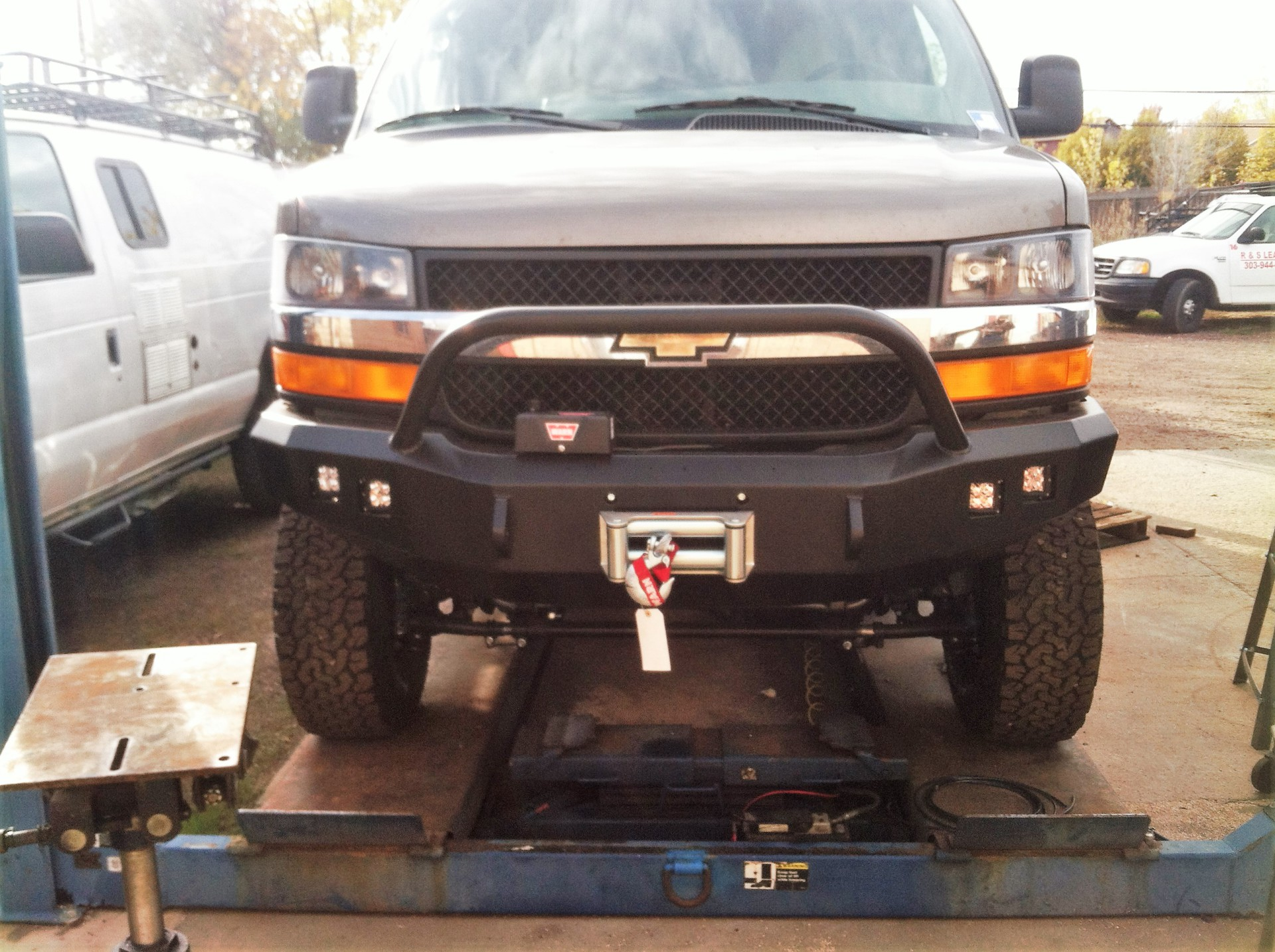 Chevy Express Roadtrek winch bumper