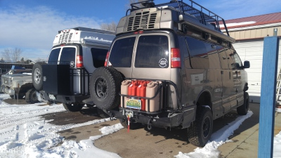 4x4 Roadtrek with custom bumper systems and roof rack