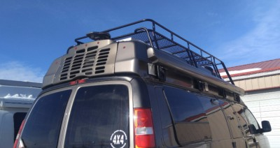 Chevy Express custom hightop roof rack