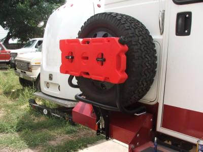 4x4 Chinook custom tire carrier