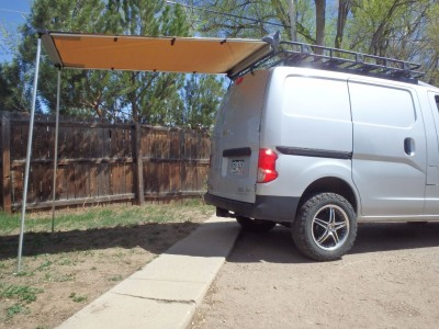 Chevy City Express Awning and Roof Rack