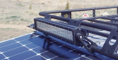 Chevy City Express Light Bar on Roof Rack
