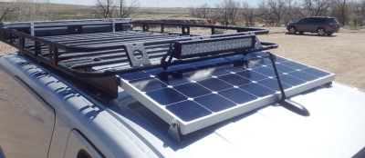 Chevy City Express Roof Rack with Lights and Solar