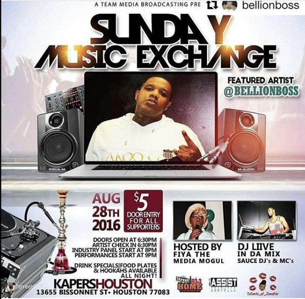 Sunday Music Exchange-Kappers Houston