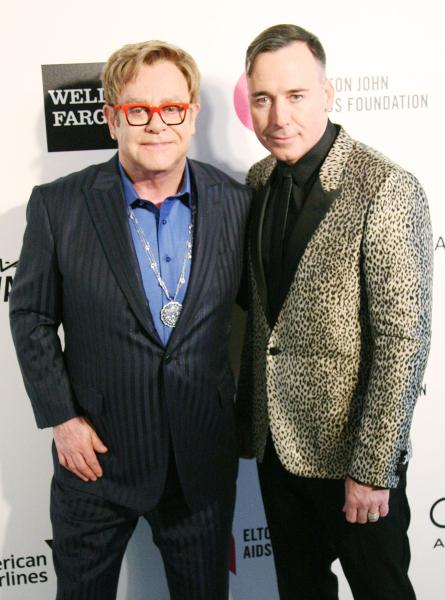 Elton John and David Funish.