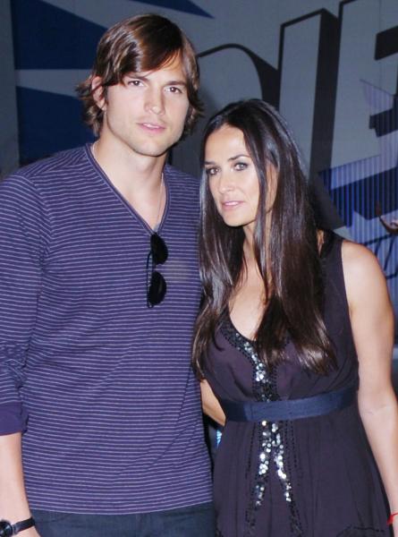 Ashton Kutcher and Demi Moore.