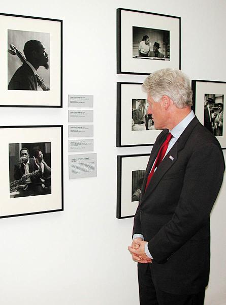 Former President Bill Clinton at The Studio Museum in Harlem.