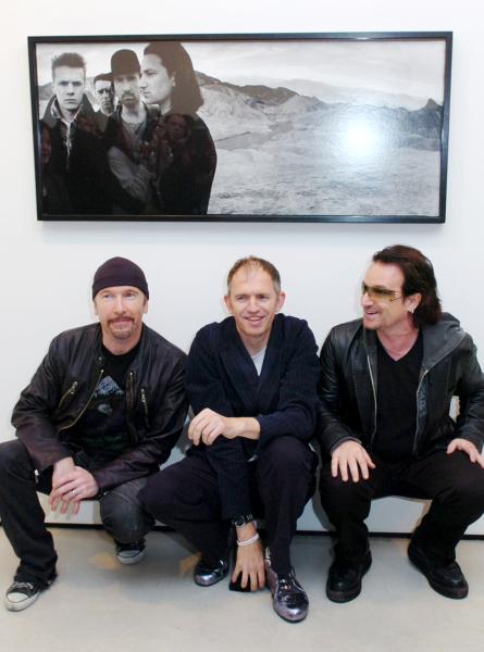 The Edge, Anton Corbijn and Bono.