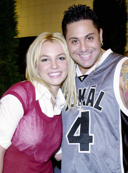 Exclusive photo: Britney Spears and DJ Skribbles at MTV Video Music Awards Backstage.