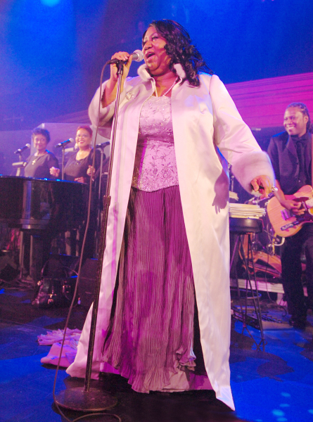 Aretha Franklin at the Sarah Ferguson Foundation.
