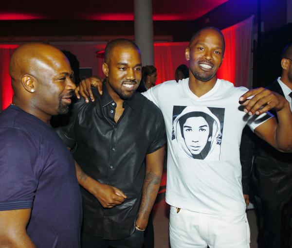 Breyon Prescott, Kanye West and Jamie Foxx.