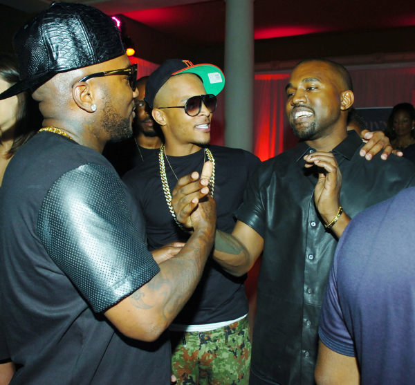 Young Jeezy, T.I. and Kanye West.