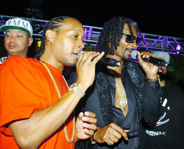 DJ Quik and Snoop Lion.