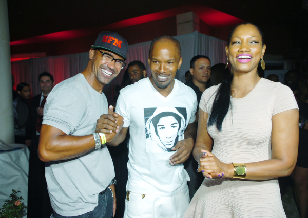 Shemar Moore, Jamie Foxx and Garcelle Beauvais.