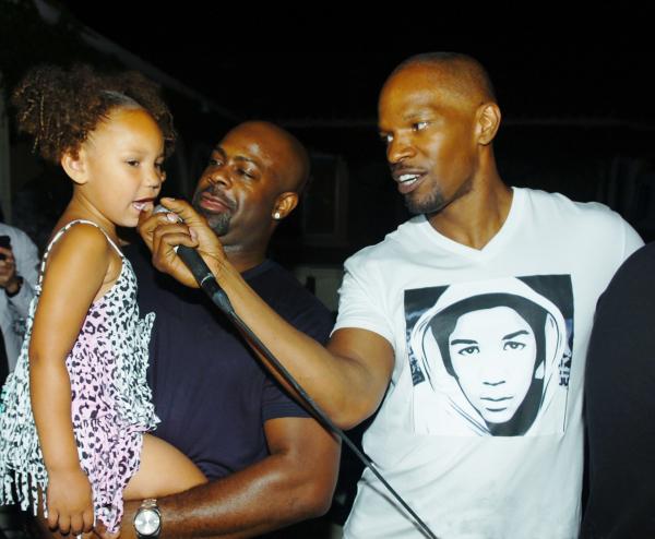 Breyon Prescott, Jamie Foxx and his daughter.