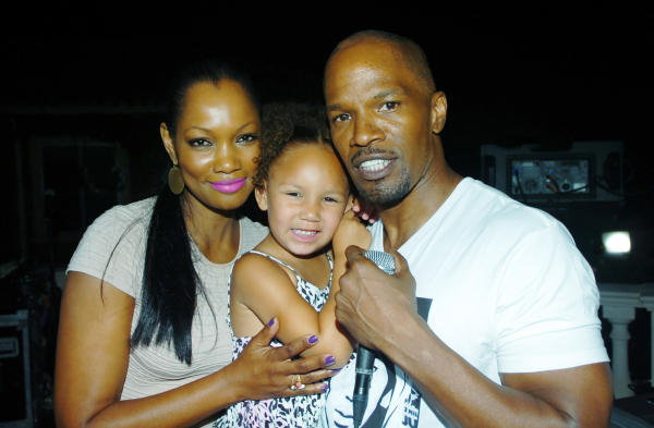 Garcelle Beauvais, Jamie Foxx and his daughter.