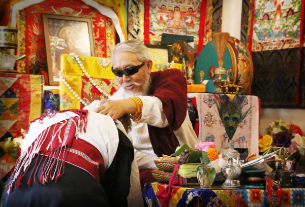 Venerable Bhakha Tulku Rinpoche in Los Angeles.