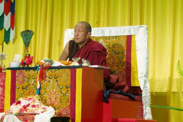 Dzongsar Jamyang Khyentse Rinpoche in Pasadena.