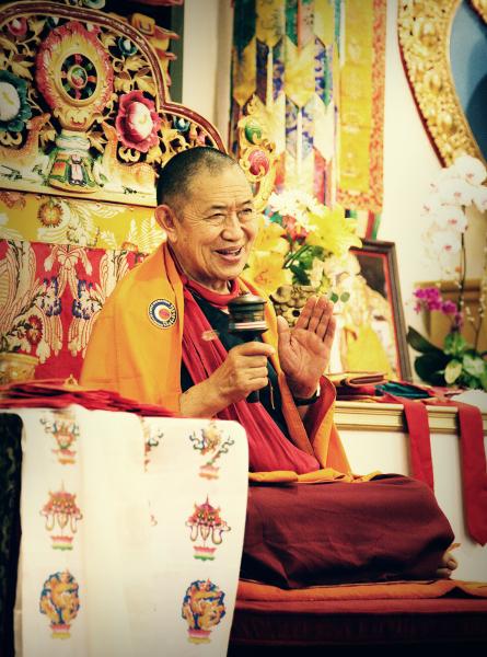 Venerable Garchen Rinpoche in Los Angeles.