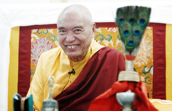 His Eminence Namkha Drimed Rinpoche in Los Angeles.