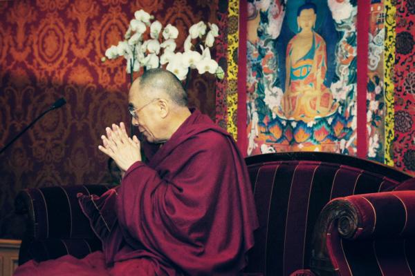 His Holiness Dalai Lama in Paris, France.