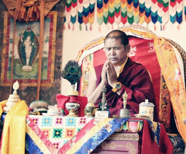 Tulku Thadral Rinpoche in Los Angeles.