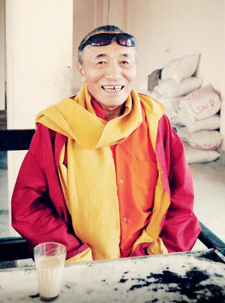 Venerable Khenchen Palden Sherab Rinpoche in India.