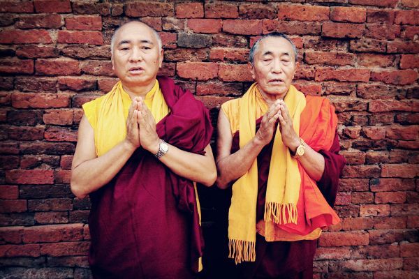 The Khenpo Brothers in India.