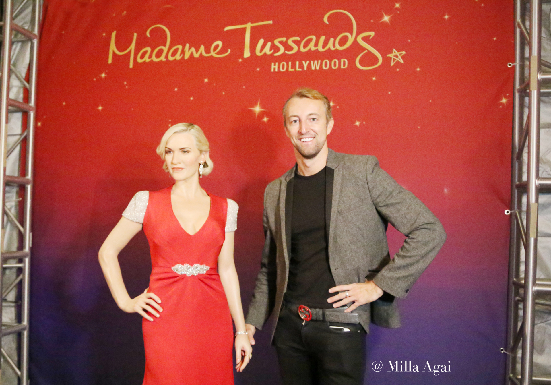 Mario-Max Prinz Zu Schaumburg-Lippe at Kate Winslet's Wax Figure at Madame Tussauds.
