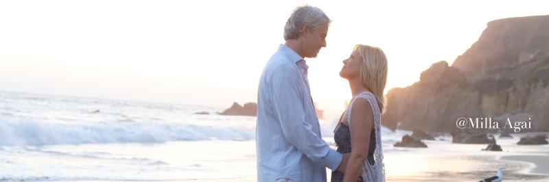 Heather and Jason at El Matador Beach, Malibu.