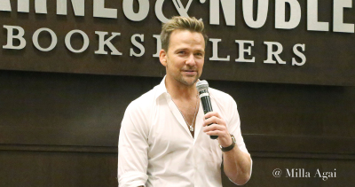 """Sean Patrick Flanery Presents his book """" Jane Two""""."""