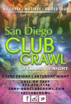 Weekend warrior ; Nightclub ; Downtown San Dieg ; Music ; Dancing ; San Diego ; Gaslamp; Nightlife; Club Crawl